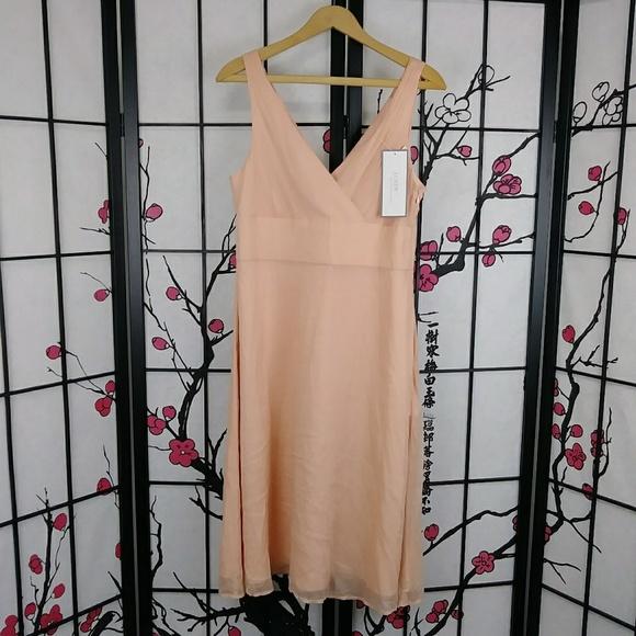 J. Crew Dresses & Skirts - NEW J Crew SOPHIA DRESS Silk Apricot Formal Wrap